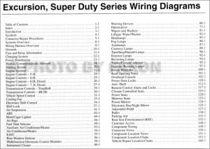 2003 Ford Excursion FSuper Duty 250 350 450 550 Wiring