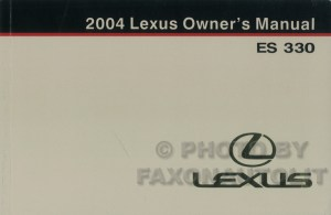 2004 Lexus ES 330 Navigation System Owners Manual Original