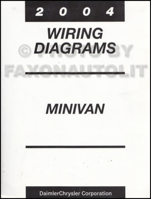 2004 Chrysler Dodge Minivan Wiring Diagram Manual Original