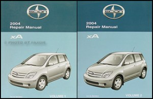 2004 Scion xA Wiring Diagram Manual Original
