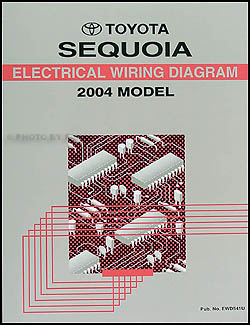2004 Toyota Sequoia Wiring Diagram Manual Original