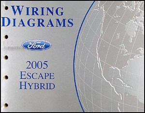 2005 Ford Escape Hybrid Wiring Diagram Manual Original