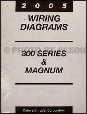 2005 Chrysler 300 Dodge Magnum Wiring Diagram Manual Original