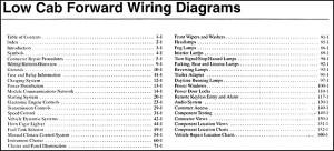 2006 Low Cab Forward Truck Wiring Diagram Manual Original