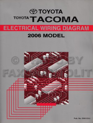 2006 Toyota Taa Pickup Wiring Diagram Manual Original