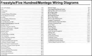 2007 Freestyle, 500, Montego Wiring Diagram Manual Original