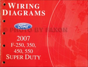 2007 Ford F250F550 Super DutyTruck Wiring Diagram Manual