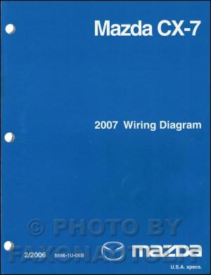2007 Mazda CX7 Wiring Diagram Manual Original