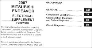 2007 Mitsubishi Endeavor Wiring Diagram Manual Original