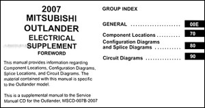 2007 Mitsubishi Outlander Wiring Diagram Manual Original