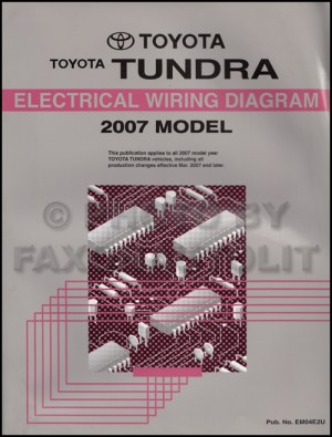2007 Toyota Tundra Wiring Diagram Manual Original