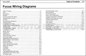 2008 Ford Focus Wiring Diagram Manual Original