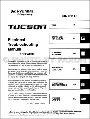 2008 Hyundai Tucson Electrical Troubleshooting Manual Original