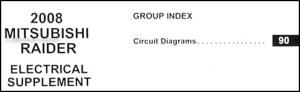 2008 Mitsubishi Raider Wiring Diagram Manual Original