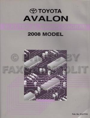 2008 Toyota Avalon Wiring Diagram Manual Original