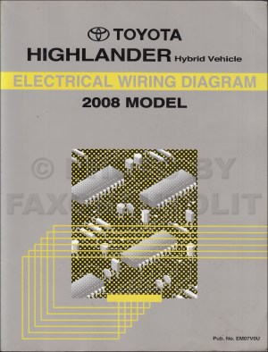 2008 Toyota Highlander Hybrid Wiring Diagram Manual