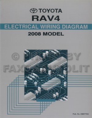 2008 Toyota RAV4 Wiring Diagram Manual Original