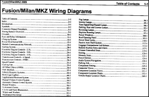 2009 Fusion Milan MKZ Wiring Diagram Manual Original