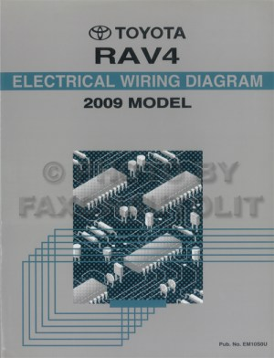 2009 Toyota RAV4 Wiring Diagram Manual Original