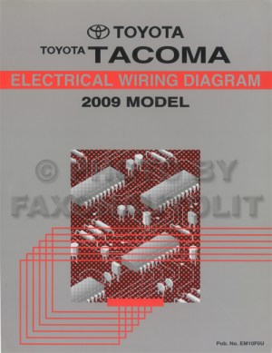 2009 Toyota Taa Pickup Wiring Diagram Manual Original