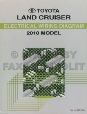 2010 Toyota Land Cruiser Wiring Diagram Book Original OEM