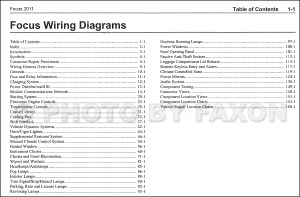 2011 Ford Focus Wiring Diagram Manual Original