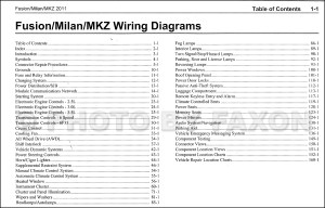 2011 Ford Fusion Mercury Milan Lincoln MKZ Wiring Diagram