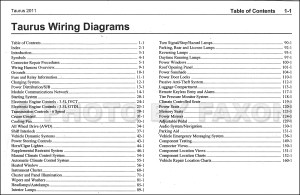 2011 Ford Taurus Wiring Diagram Manual Original