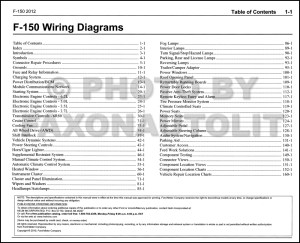 2012 Ford F150 Pickup Truck Wiring Diagram Manual Original