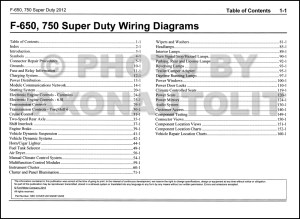 2012 Ford F650 and F750 Super Duty Truck Wiring Diagram