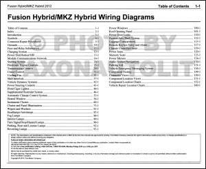 2012 HYBRID Ford Fusion Lincoln MKZ Wiring Diagram Manual
