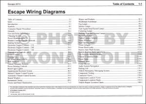 2013 Ford Escape Wiring Diagram Manual Original