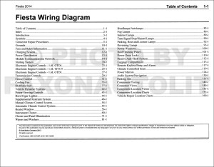 2014 Ford Fiesta Wiring Diagram Manual Original