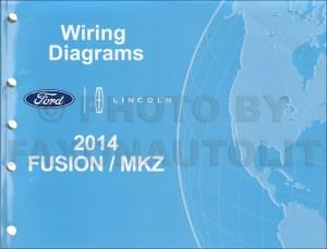 2014 Ford Fusion Energi Hybrid Lincoln MKZ HYBRID Wiring Diagram Manual Original