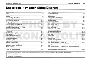 2015 Ford Expedition Lincoln Navigator Wiring Diagram