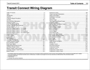 2015 Ford Transit Connect Wiring Diagram Manual Original