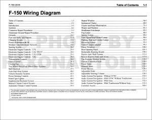 2016 Ford F150 Wiring Diagram Manual Original