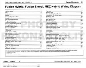 2016 Ford Fusion Energi Hybrid Lincoln MKZ HYBRID Wiring Diagram Manual Original