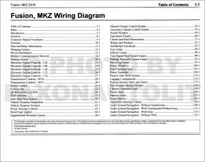 2016 Ford Fusion Lincoln MKZ Wiring Diagram Manual Original
