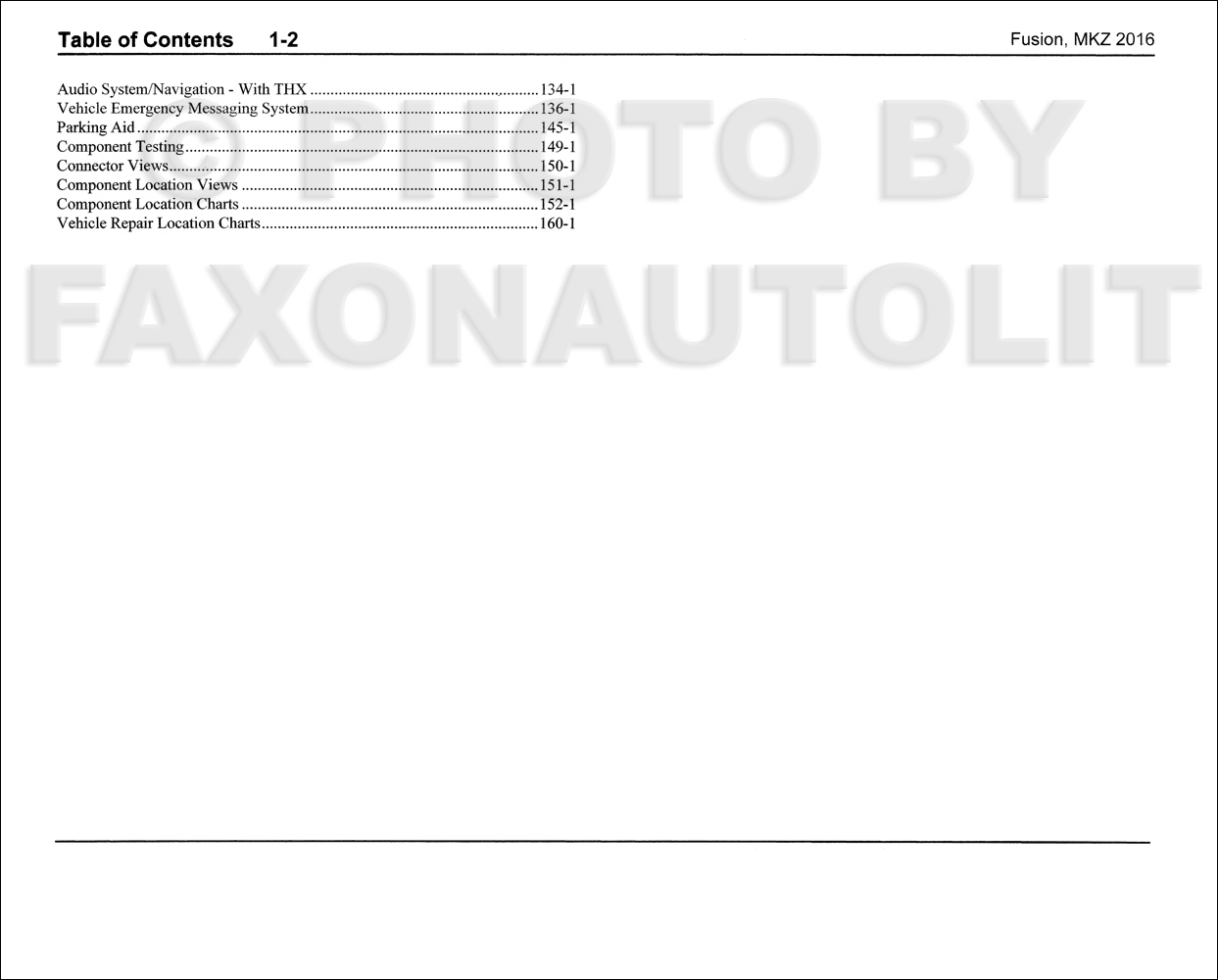 Ford Fusion Lincoln Mkz Wiring Diagram Manual Original