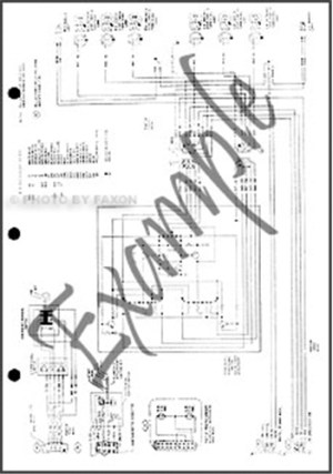 1984 Ford F150 F250 F350 Wiring Diagram 84 Pickup Truck
