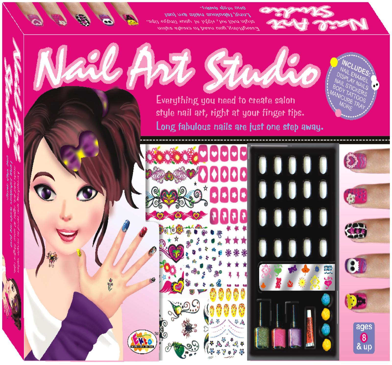 Ekta Nail Art Studio Kit 8 Years Plus India