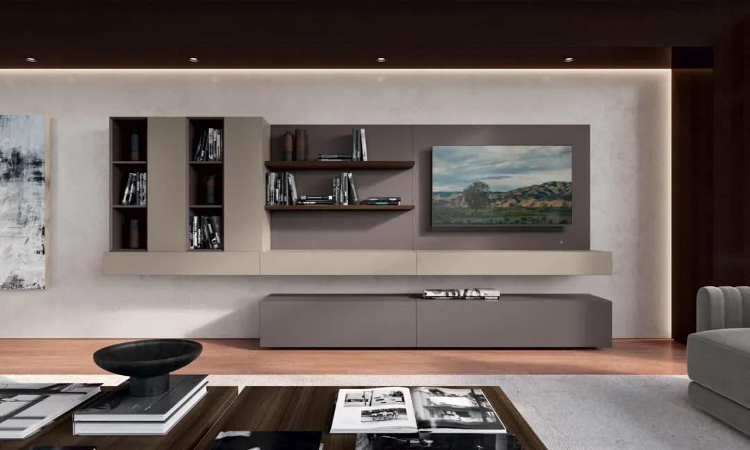 Eglemtek parete attrezzata swiss mobile soggiorno tv con mensola salotto legno base televisione sala da pranzo design moderno 200 x 41 x 46. Mobili Da Soggiorno Pareti Attrezzate Moderne Febal Casa