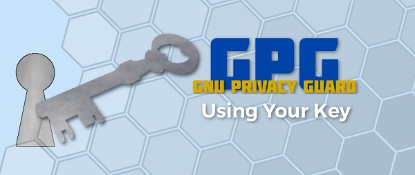 GPG Using Your Key