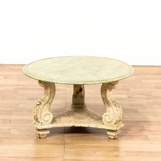 Cream Round Coffee Table