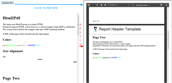 Convert HTML/CSS Content to a Sleek Multiple Page PDF File ...