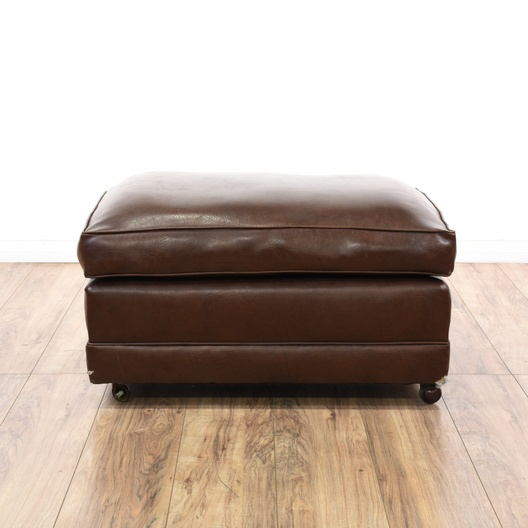 Leather Ottoman Look