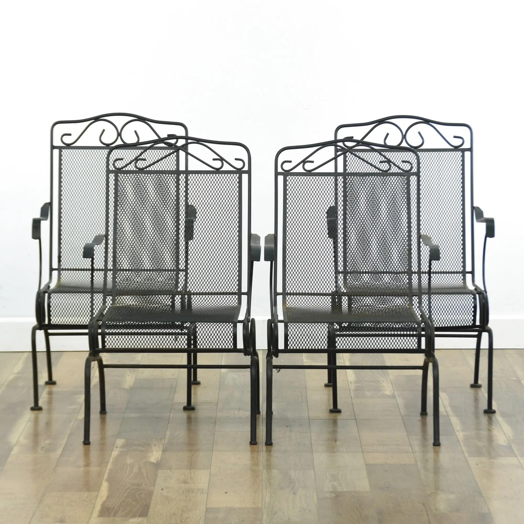 metal rocking patio chairs loveseat