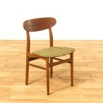 Mid Century Modern Dining Chair W Striped Yellow Seat Loveseat Online Auctions Los Angeles