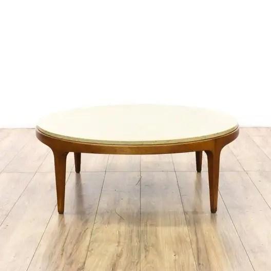 round marble top mid century modern coffee table loveseat com san diego